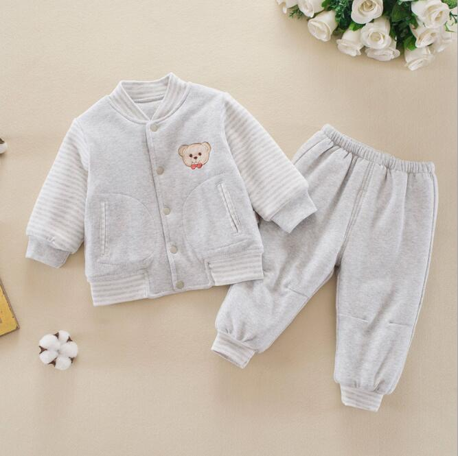 2018 New Winter Baby Boy Clothes Long Sleeve Baby Girl  Sets Cotton Soft Long Pants Baby Outfit Outgoing Clothes<br>