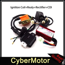Racing 5 Pin AC CDI Box Ignition Coil Regulator Rectifier Solenoid Relay For 50cc 70cc 90cc 110cc Engine Chinese ATV Quad