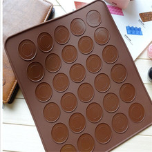 30 Holes Macarons Mat Round Shape Silicone Pad Macarons Mat Fit To Oven Microwave Refrigerator Macaron Mat Baking tools YL884466(China)