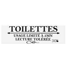 Modern Letters TOILETTES Wall Stickers Waterproof Removable Decal Toilet Door Wallpaper Home Decoration 600mm*170mm
