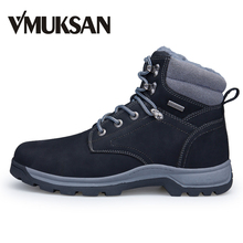 VMUKSAN Brand New Men Boots Plus Size 40-46 Warm Furry Winter Boots Men Shoes 2017 Fashion Working Snow Ankle Boots For Man(China)