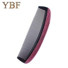 YBF quality product Ox Horn Purpleheart combs wooden craft fashion special gift hair makeup professional brush(China)