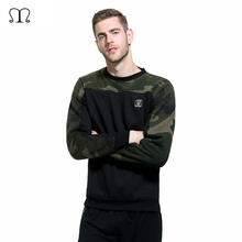 Russia Size Side Buckle Ribbon Camouflage Hoodies Men Hip Hop Casual Camo Pullover Hooded Sweatshirts Fashion Male Streetwear(China)