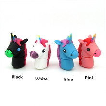 4 colors cartoon Unicorn horse usb flash drive disk cute memory stick Pen drive personalized gift pendrive 4gb 8gb 16gb 32gb(China)
