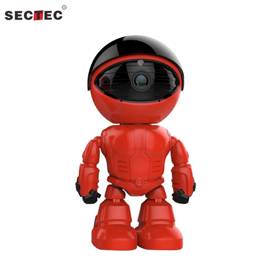 SECTEC 960P HD Wireless IP Camera 1.3MP Wifi Robot camera Night Vision Camera Two-Way Audio Network Baby Monitor<br>
