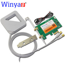 Winyao PCE-7265AC PCI-E Desktop WiFi Card Adapter 867Mbps 802.11AC for Intel Wireless-AC 7265NGW 7265AC Bluetooth 4.0 BT 4.0(China)