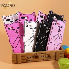 KISSCASE 3D Pocket Cat Silicone Case For iPhone 5s 7 6 6s Plus Cute Cartoon Funny Phone Cover For iPhone7 6 6s 5s 5 SE Shells