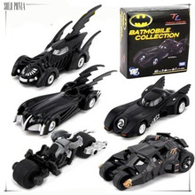 5 piece Batman Vehicles set Super Cool Black Alloy Batmobile Car Models Metal Material Batman Boy's Toy Car 5 pieces set