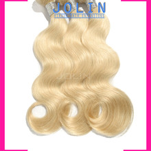 "Top quality European Virgin Hair weave Body wave 3Pcs Lot,Virgin Blonde Hair 10""-30"" Color #613 Hair Extensions Products"