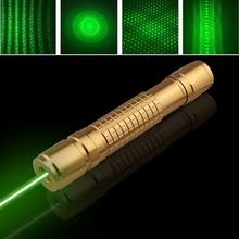 Strong high powered green laser pointers 532nm burning match burn cigarettes pop balloon+Charger+gift box(China)