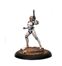 Classic Star Wars 35MM White Imperial women soldiers (including 2 head) figure Resin Model Kit Free Shipping