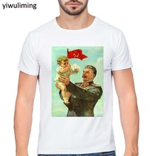 Buy Print RUSSIA Moscow RUSSIAN Putin CCCP T-shirt O-Neck Short sleeves Summer Fashion Funny Unisex USSR stalin T Shirt Streetwear for $8.54 in AliExpress store