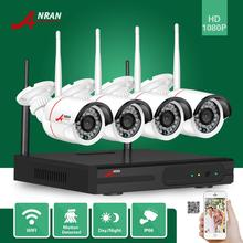 ANRAN CCTV P2P 4CH Wifi NVR 24IR IR Waterproof MINI Bullet 720P Video IP Wireless Camera Security System Hard Disk Optional(China)
