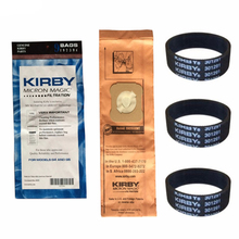 For Kirby 9 Genuine Vacuum Micron Magic Bags G4 & G5 197394 Generation 4 Gen 5 Kirby Bag, 197394 (9 pack) & 3 Belts 301291(China)