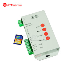Wholesale T1000S SD Card control 2048 pixels LED Pixel Controller Full color For WS2812B LPD8806 6803 WS2811 WS2801 5-24V