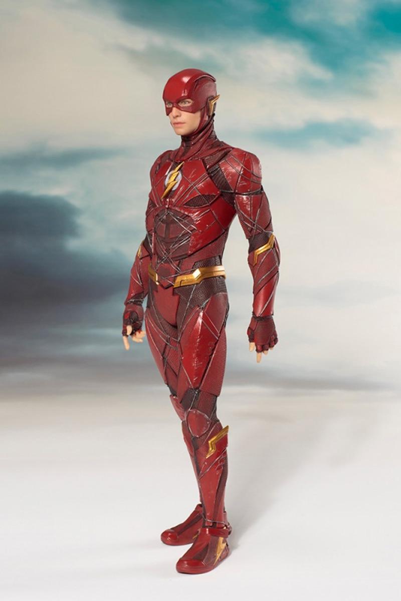 DC Justice League The Flash Cyborg Wonder Woman Batman Superman Statue ARTFX Action Figures Collection Model Toy Doll (5)