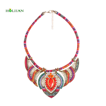 Female vintage choker pendants&necklaces big boho necklaces ethnic bohemian jewelry statement tribal orange bijoux femme mujer(China)