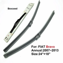 "Bexceed of Car Windshield flat wiper blade for FIAT Bravo. 1 pair(24""+18"") .2007~"