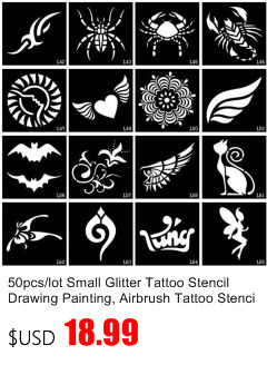 50pcs/lot Black Arabic Tattoos Women Arm Designs,Beautiful Flower Butterfly Waterproof Fake Temporary Tattoo Stickers Wholesale 41