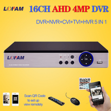 LOFAM 16 Channel AHD DVR 4MP 16CH AHD/CVI/TVI DVR 4M CCTV Video Recorder Hybrid DVR NVR HVR 5 In 1 3531 chip for surveillance