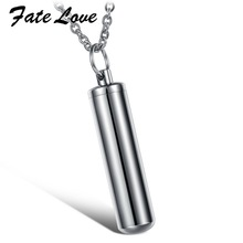 Fate Love New Fashion New Product Man Titanium Stainless Steel Keepsake Bottle Pendant Free Chain Necklace Men Best Gift FL824