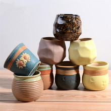 1 Pcs Creative Flowerpots Succulent Plants Flower Pot Gaeden Decoration Ceramic Pot Saksi Planter Pots vasos para jardim