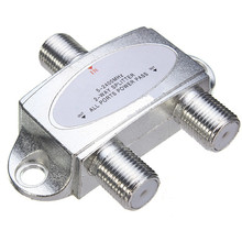 Hot Sale 53 x 45 x 14mm 2-Way TV Satellite Cable Splitter 5-2400MHZ for Sky Virgin Media(China)