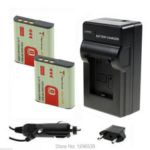 2x1400mAh li ion battery 3.7v Digital Batteries NP-BG1 NP BG1 Bateria+AC Charger +Car Charger For Sony G type battery Camera