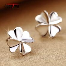 Creative Four Leaf Clover Earrings For Women Lovely Stylish Stud Earrings Korea Fashion Ear Jewelry 0.9cm*0.9cm COCOTINA L10529