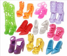 10 pairs Doll Shoes Fashion Cute Colorful Assorted shoes for Doll with Different styles High Quality Baby Toy