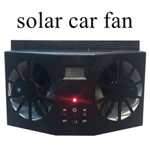 new arrival Black Solar Sun Power Car Auto Fan Air Vehicle Vent Cool Cooler Ve4ntilation System Radiator for Car Window