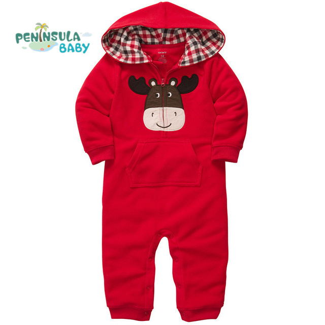 Peninsula Baby Brand Spring Baby Rompers Cotton Hooded Jumpsuits Newborn Infant Clothing Kids Toddler Outerwear Cute Animal<br><br>Aliexpress