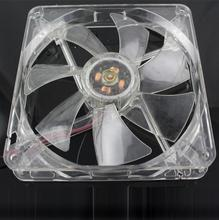 Binmer Good Sale Blue Quad 4-LED Light Neon Clear 140mm PC Computer Case Cooling Fan Mod Aug 9