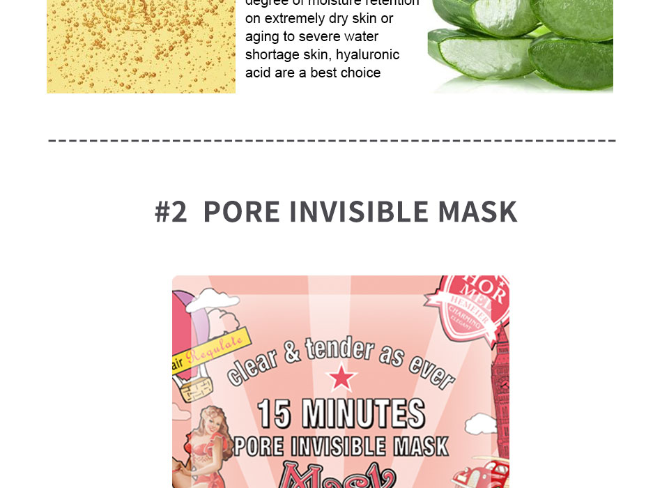 HEMEIEL 3PCS Hyaluronic Acid Face Mask Moisturizing Collagen Korean Mask Sheet Acne Treatment Mask Facial Skin Care Cosmetics 4