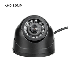 AHD 1.0MP Plastic Mini Camera Black 1/3 CCD Sony IR Night Vision Dome Camera for Vehicle Ship Lorry Taxi Surveillance Security(China)