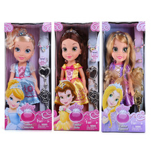 "My First Fairy Tales Princess Rapunzel Belle Cinderella Doll 14"" 36CM Girls Dolls Gifts Baby Toys Figure For Christmas Gifts"