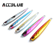 ALLBLUE High Quality Metal Jigging Spoon 26g 3D Eyes Artificial Bait Boat Fishing Jig Lures Super Hard Lead Fish Fishing Lures