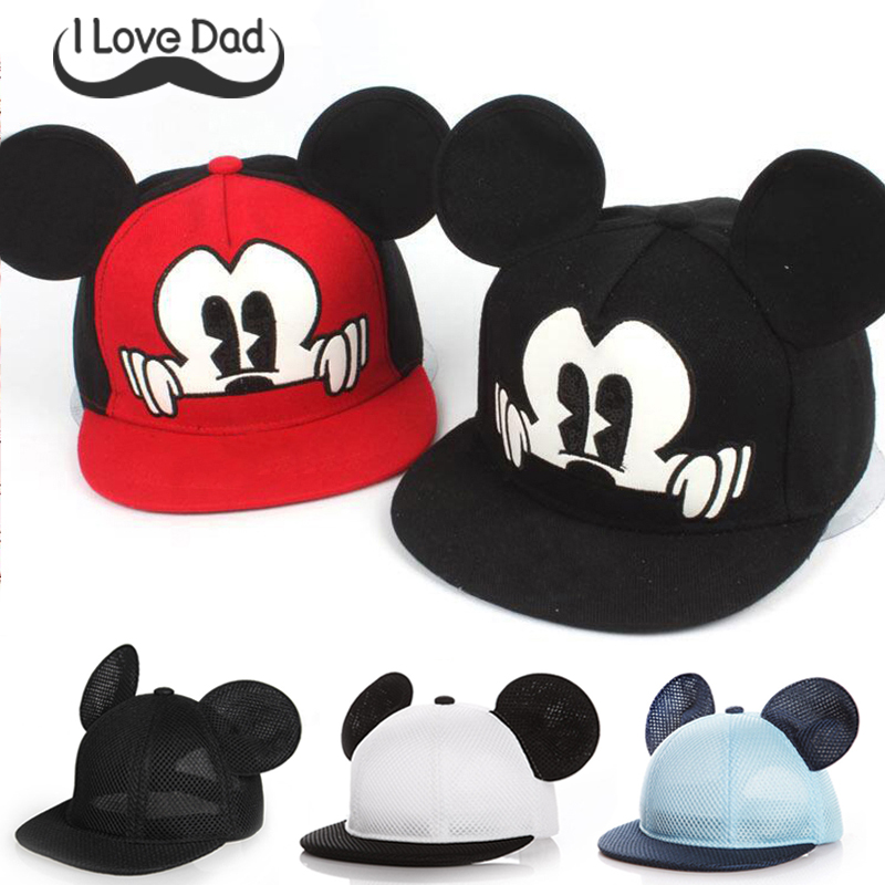 Mickey Ears Baby boy Sun Hat Children Snapback Baseball Cap Summer Kids Boys Hats Bucket Caps accessories Casquette Enfant muts(China)