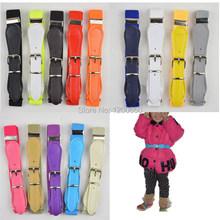 fashion children candy belt girls/boys elastic waist belt kids Pu leather high quality white/red strap belts(China)