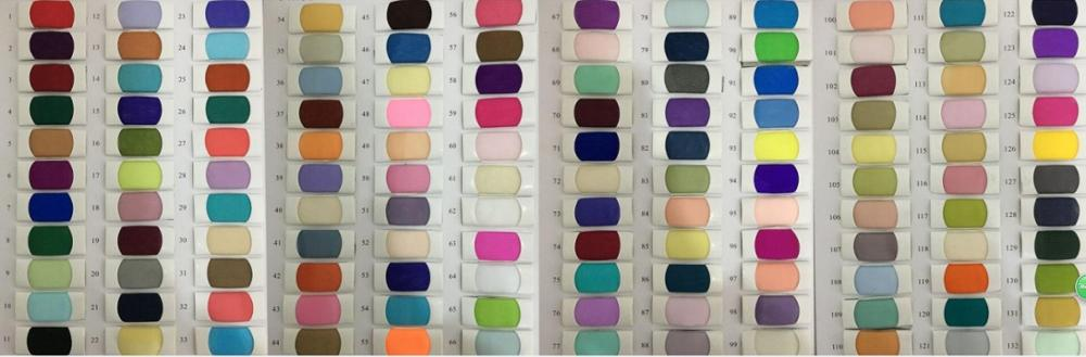 Tulle color chart