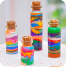 Sand painting colored sand bottled 95g/pack 11 colors available sand cpainying for hild 1lot=11pack =11different colour CYB47