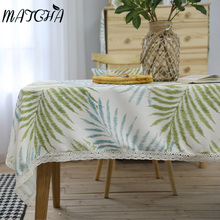 Matcha 2017  American Village Art Polyester and  Cotton Tablecloth Rectangular Wedding Party Table Cloth Toalha de mesa