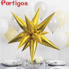 12pcs/set gold explosion star foil Balloons Wedding Birthday Room Party Supplies Water droplets light Aluminum air balls DIY