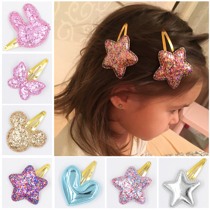 31 Style Baby Tie Bow Love Heart BB Hairpins Children Accessories Girls Mickey butterfly Princess Star Cute Barrette Hair Clip(China (Mainland))