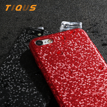 TIQUS Phone Case For iPhone X 7 7 Plus Square Pattern Anti-fingerprint Ultra Thin Back Cover Cases For iPhone X 7 8 Plus Coque(China)