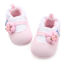 New Arrival Baby Flower Cotton Shoes Lace Infant Toddler Cute Baby First Walker Crochet Shoes Girls 0-12 Months