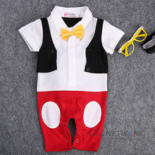 Baby Boys Clothes Gentleman Wedding Tuxedo Formal Wear Suit Rompers Jumpsuit Set One-Pieces