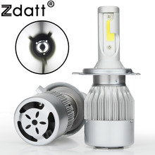 Zdatt 2Pcs Super Bright H4 Led Bulb 80W 8000Lm Car Led Headlight H1 H7 H8 H11 HB3 9005 HB4 12V Moto Auto Fog Lamp Automobiles