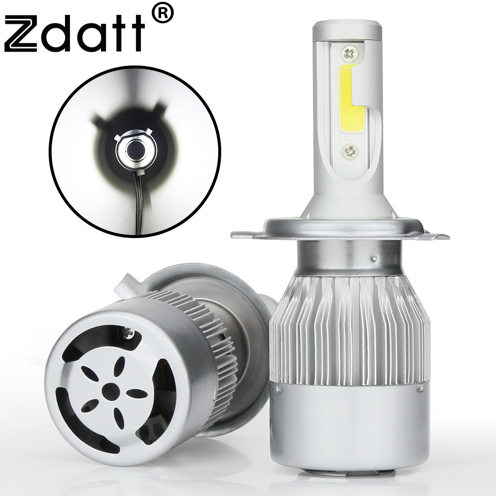 Zdatt 2Pcs Super Bright H4 Led Bulb 80W 8000Lm Car Led Headlight H1 H7 H8 H11 HB3 9005 HB4 12V Moto Auto Fog Lamp Automobiles(China (Mainland))