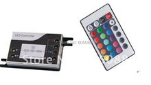 2016 Fashion Design ! mini rgb led IR controller with wireless remote control, DC12/24v compatible, CE&ROHS,2 years warranty